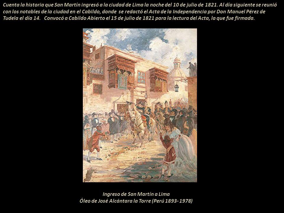 Después de libertar varias ciudades del territorio peruano, Don José de San Martín se reunió, en los extramuros de la ciudad de Lima, con el Virrey Jo