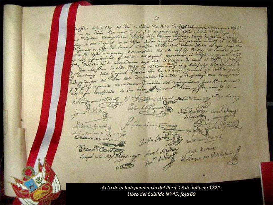 Cuenta la historia que San Martín ingresó a la ciudad de Lima la noche del 10 de julio de 1821. Al día siguiente se reunió con los notables de la ciud