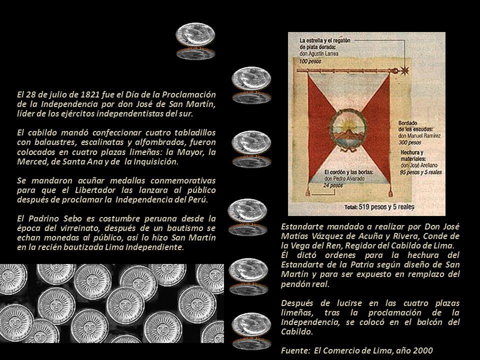ACTA DE LA INDEPENDENCIA - CABILDO DE LIMA En la Ciudad de los Reyes del Perú, en quince de julio de mil ochocientos veinte y uno. Reunidos en este Ex