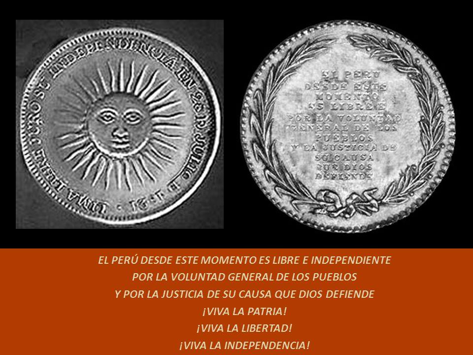 Estandarte mandado a realizar por Don José Matías Vázquez de Acuña y Rivera, Conde de la Vega del Ren, Regidor del Cabildo de Lima. Él dictó ordenes p