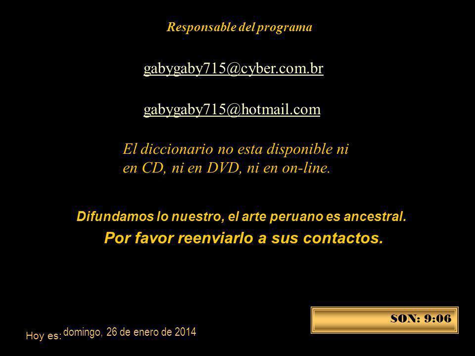 Disponible en el 422-6090-Lima-Perú marta couto revolledo diccionario715@hotmail.com En las librerías: Miraflores: Cultura Peruana-Salazar Vallejo; Li