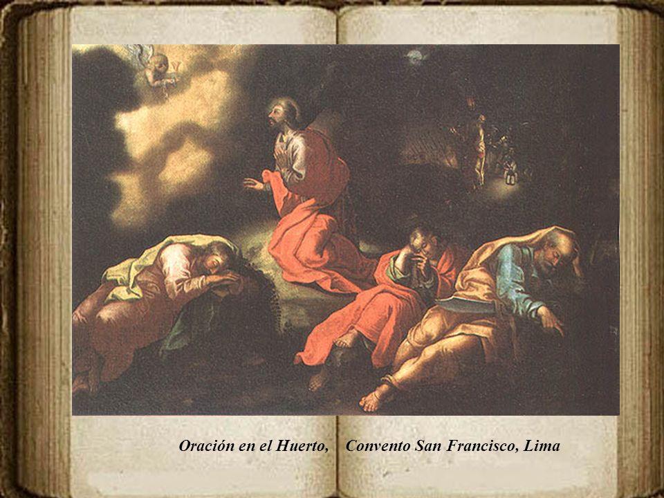 En el retablo de la Pasión de Cristo, están entre otros: Jesús crucificado con la Virgen María y San Juan. Diez lienzos, de mediano formato, colocados