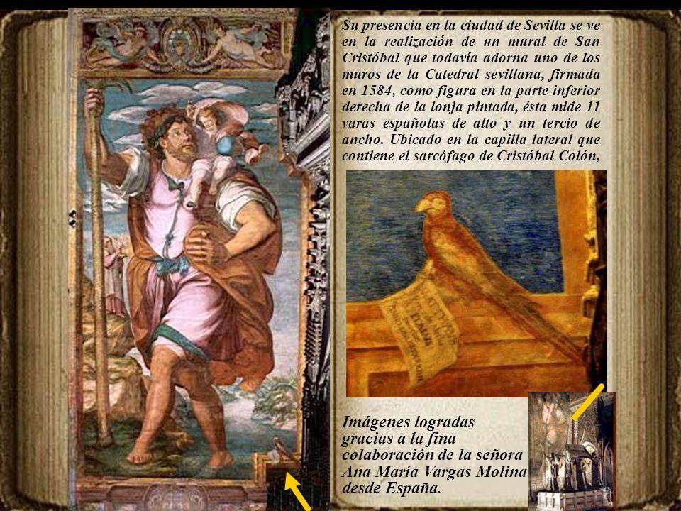 Mateo Pérez de Alessio 1547-1628 P intor y escultor. Algunos historiadores lo dan por fallecido en 1616 existiendo contratos, en Lima, fechados y firm
