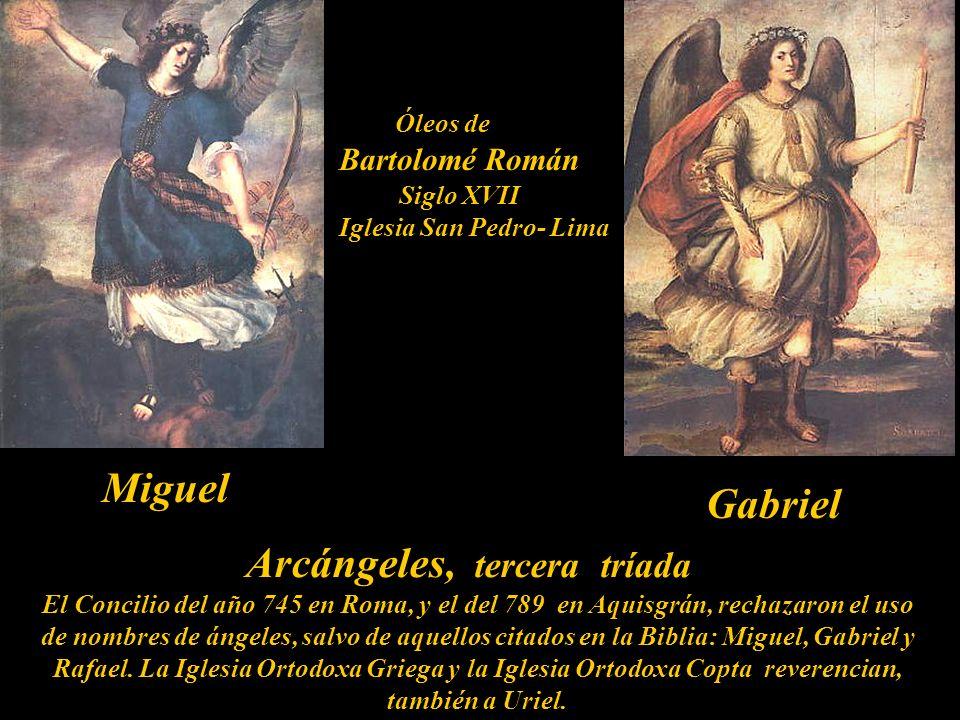 Arcángel tercera tríada La Anunciación Anónimo del siglo XVII