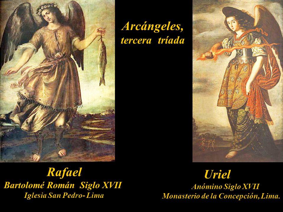Arcángeles, tercera tríada El Concilio del año 745 en Roma, y el del 789 en Aquisgrán, rechazaron el uso de nombres de ángeles, salvo de aquellos cita