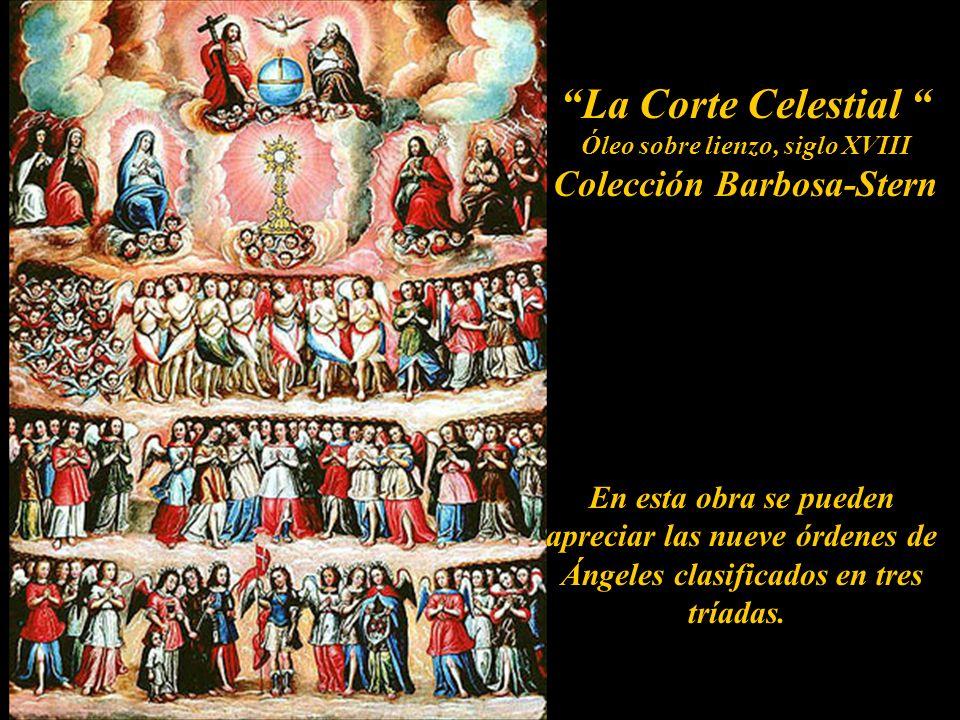 Angeles en la pintura Colonial Peruana Escudo de la la Orden Betlemita firma Joseph de Páez fecit 1768 Conjunto monumental de Belén en Cajamarca. Pres