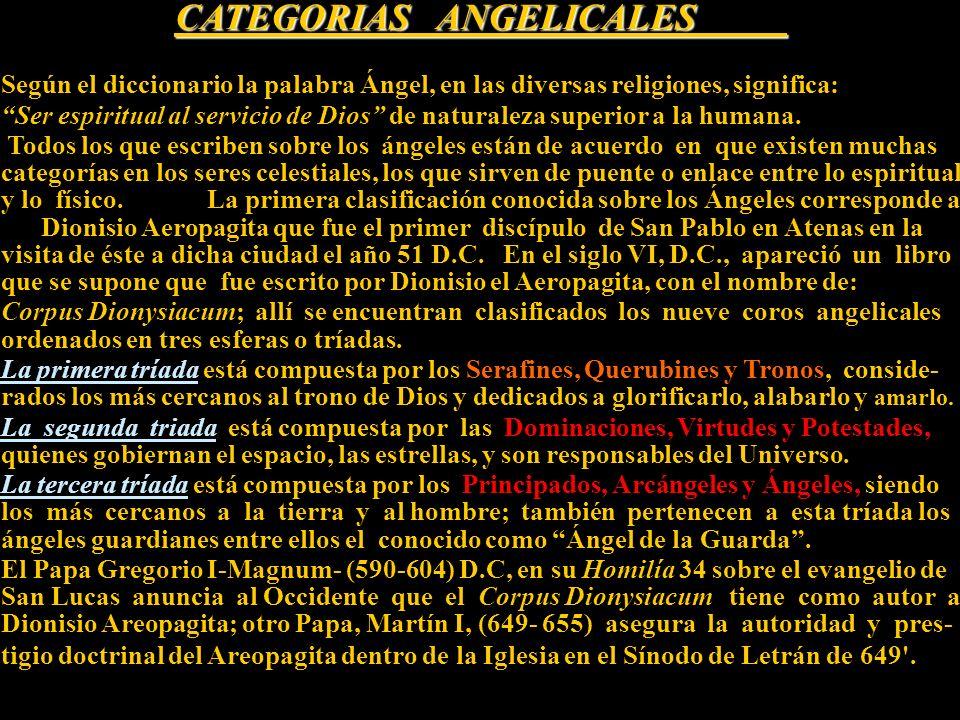 La Corte Celestial Óleo sobre lienzo, siglo XVIII Colección Barbosa-Stern En esta obra se pueden apreciar las nueve órdenes de Ángeles clasificados en