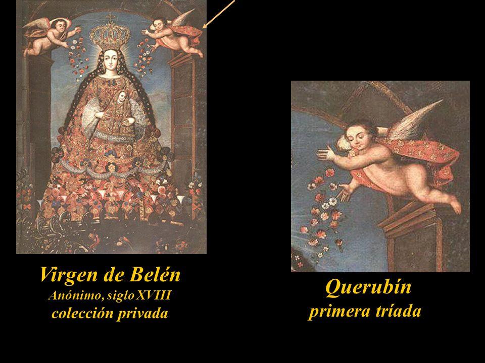 Serafín primera tríada La Santisima Trinidad Óleo de José Bermejo 1792 Monasterio de Santa Rosa de Santa María