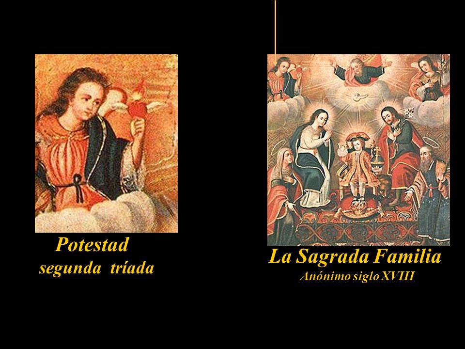 Virtud segunda tríada San Lucas pintando a la Virgen Anónimo siglo XVIII Patrón de los Pintores