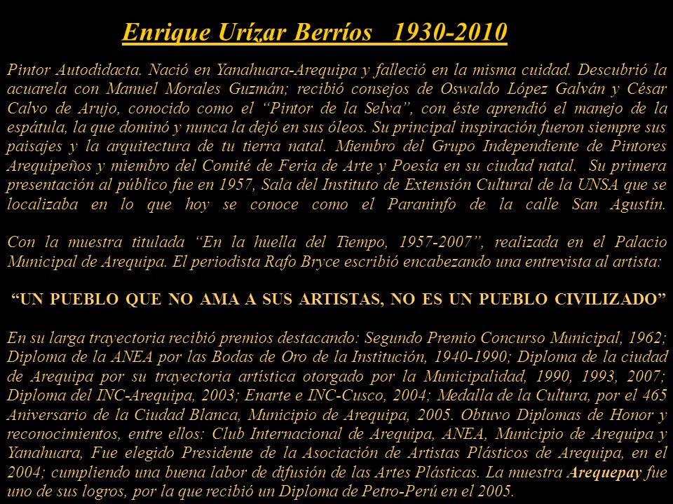 Con el reciente fallecimiento de este artista, su OBRA, se ha sumado al Patrimonio de la Nación Peruana.