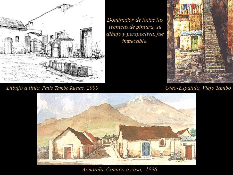 Pintor Autodidacta. Nació en Yanahuara-Arequipa y falleció en la misma cuidad. Descubrió la acuarela con Manuel Morales Guzmán; recibió consejos de Os