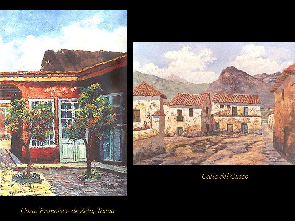 Palacio Osambela, Lima De tendencia figurativa realista participó en exposiciones desde 1957 en el Perú y el extranjero. Recorrió todo el territorio p