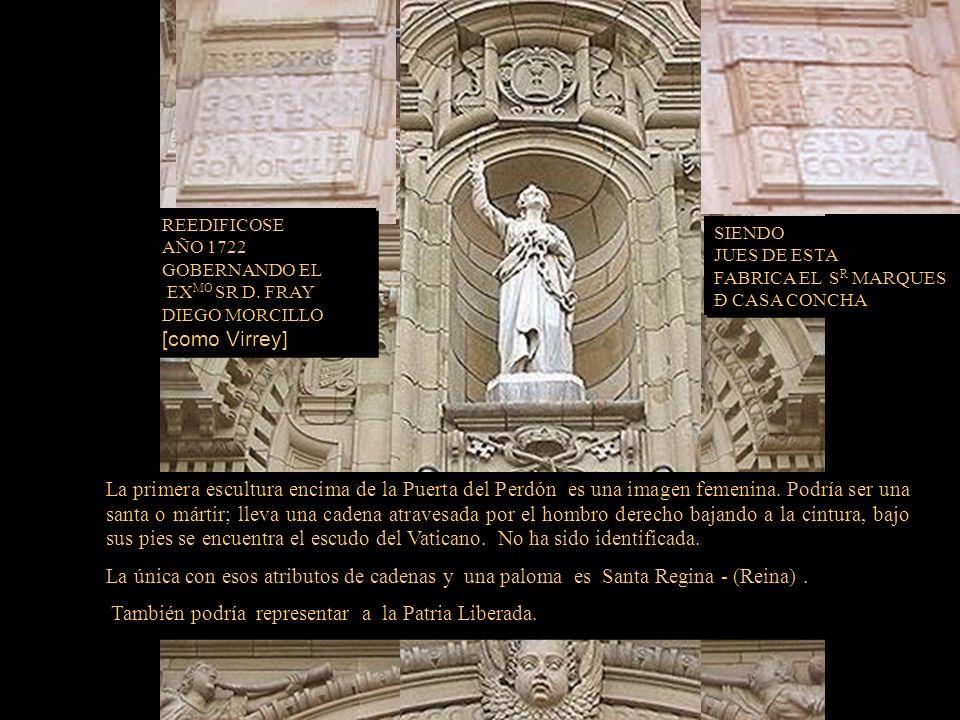 Detalle del frontis de la Catedral Corazón de Jesús de 3.30 mt. obra realizada, por Artemio Ocaña Bejarano en 1923 y colocada el 16 de febrero de 1930