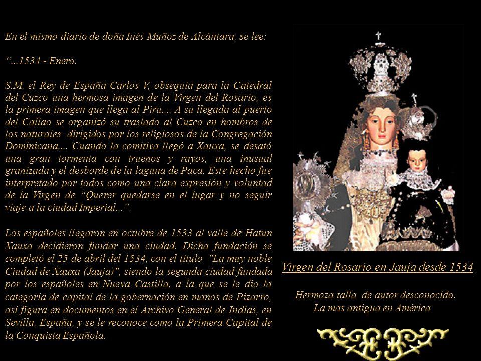 Una de las bellas obras ubicada en la Catedral de Lima desde 1554, es Nuestra Señora de la Evangelización. Talla del escultor flamenco, residente en S