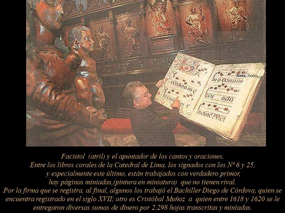 Detalles de la sillería del coro, realizada entre 1623-1640 O bra de Pedro Noguera (1580-1657) y sus colaboradores: Luis Ortíz de Vargas 1590 ? -1649