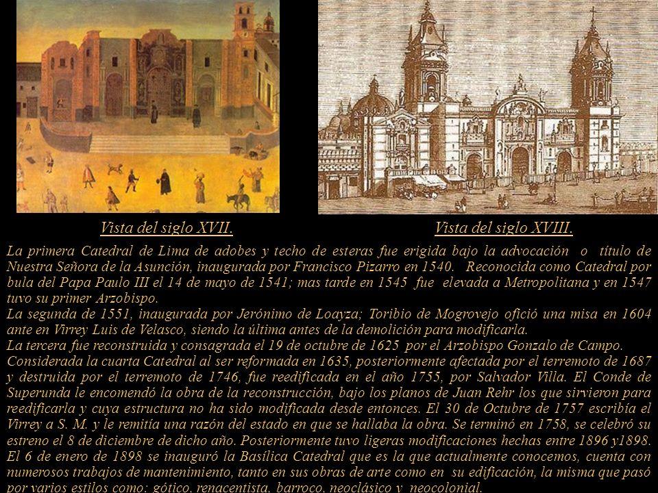 En 1541 el Papa Paulo III, por bula Illuis Fulciti Praesidio, del 14 de mayo de ese año, erigió la sede Episcopal de Los Reyes haciéndola sufragánea d