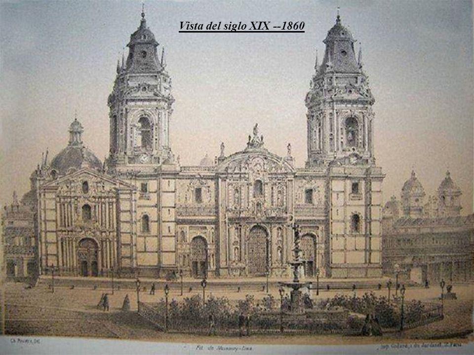 La primera Catedral de Lima de adobes y techo de esteras fue erigida bajo la advocación o título de Nuestra Señora de la Asunción, inaugurada por Fran