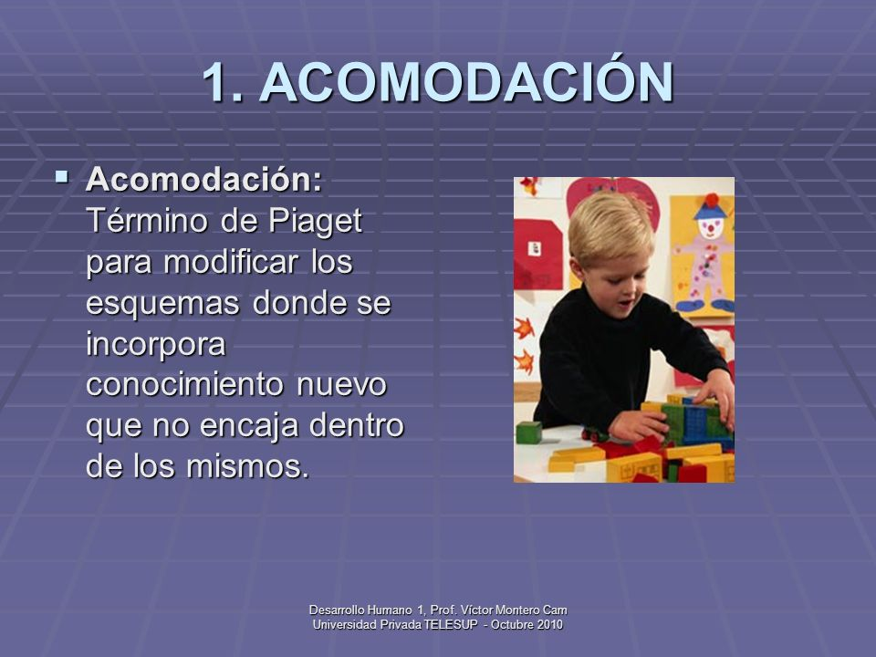 Desarrollo Humano 1, Prof.Víctor Montero Cam Universidad Privada TELESUP - Octubre 2010 21.