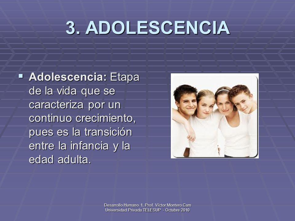 Desarrollo Humano 1, Prof.Víctor Montero Cam Universidad Privada TELESUP - Octubre 2010 3.