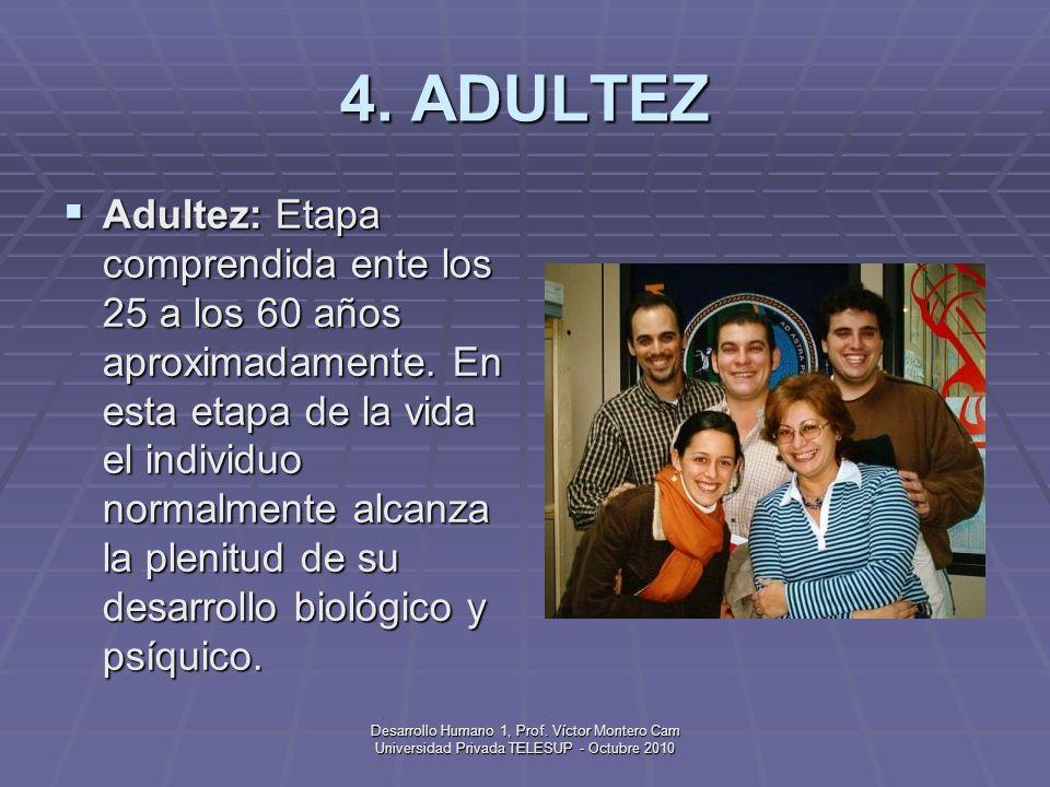 Desarrollo Humano 1, Prof. Víctor Montero Cam Universidad Privada TELESUP - Octubre 2010 3. ADOLESCENCIA Adolescencia: Etapa de la vida que se caracte