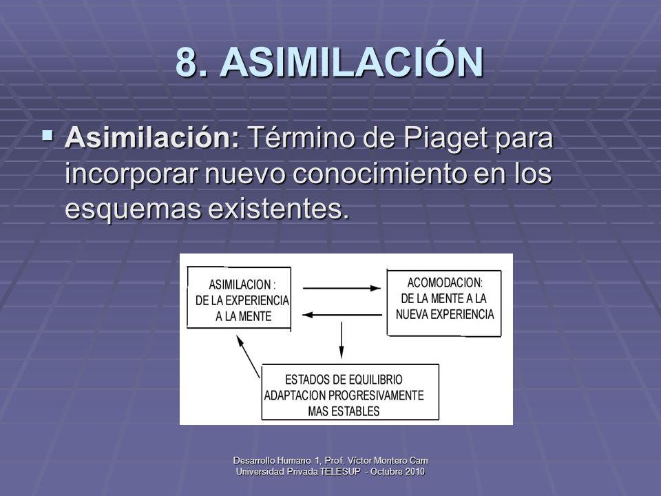 Desarrollo Humano 1, Prof. Víctor Montero Cam Universidad Privada TELESUP - Octubre 2010 7. APEGO Apego: Vínculo social primario que se desarrolla ent