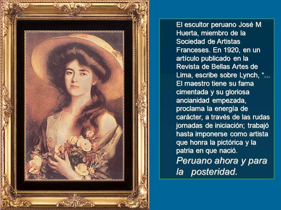 Retrató a las damas más elegantes de Europa, América y Asia; muchas de su obras se lucen en magníficas colecciones institucionales y privadas de los c