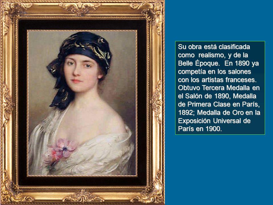 Poco se sabe de su vida como persona. A corta edad viajó a París donde estudió con William Bougereau, 1825-1905) y en la Académie des Beaux Arts de Pa