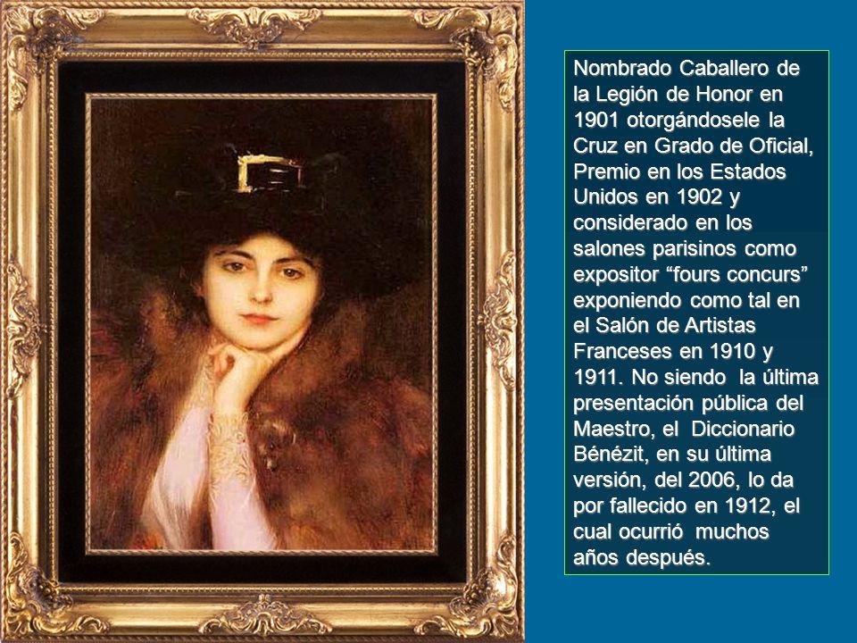 Su obra está clasificada como realismo, y de la Belle Époque. En 1890 ya competía en los salones con los artistas franceses. Obtuvo Tercera Medalla en