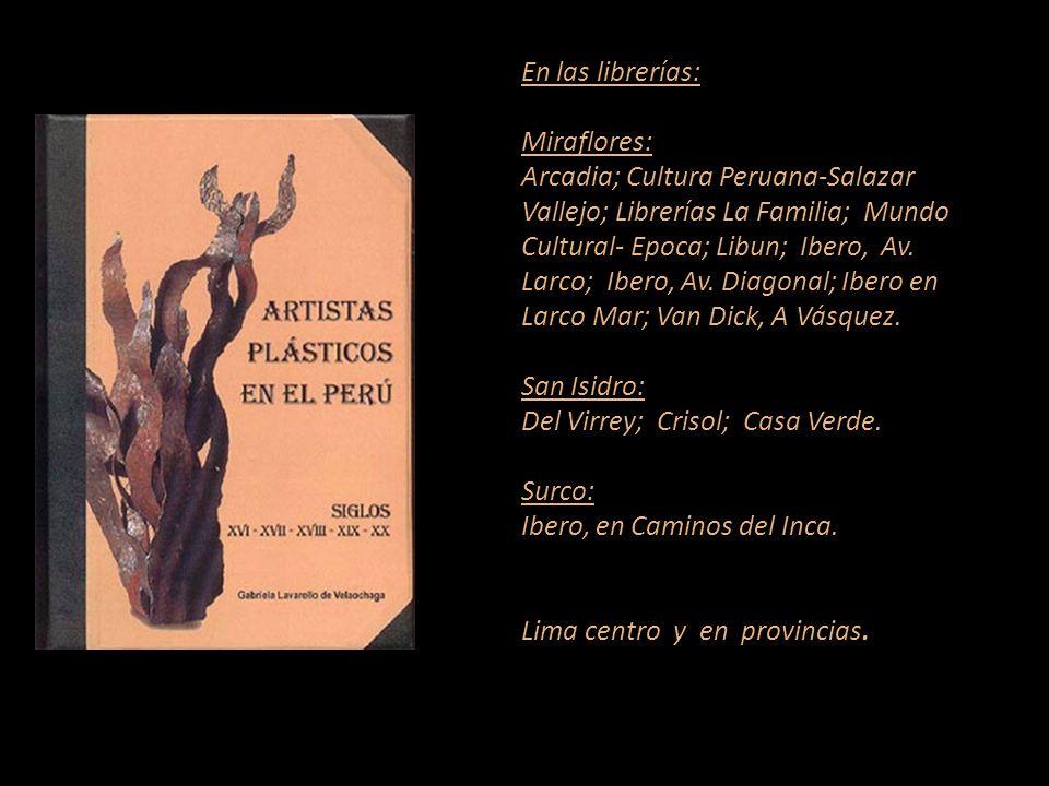 Artista que figura en el diccionario Carátula, escultura de Armando Varela Neyra Lima - Perú Representante de Ventas MARTA COUTO REVOLLEDO 441-3238 -L