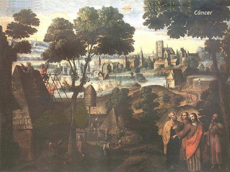 Aries Parábola, San José y la Virgen buscando posada. Lucas 2 Detalle