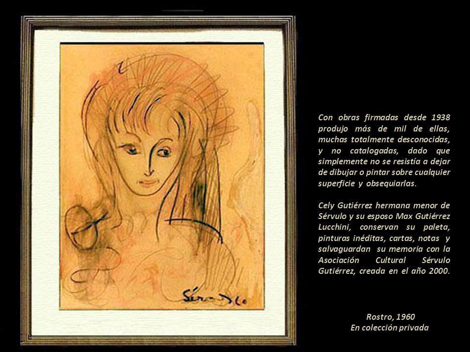 Cabello rojo, 1960 En colección privada Sérvulo dejó profunda huella en el ambiente artístico.---------------------------- Con tan solo pronunciar su