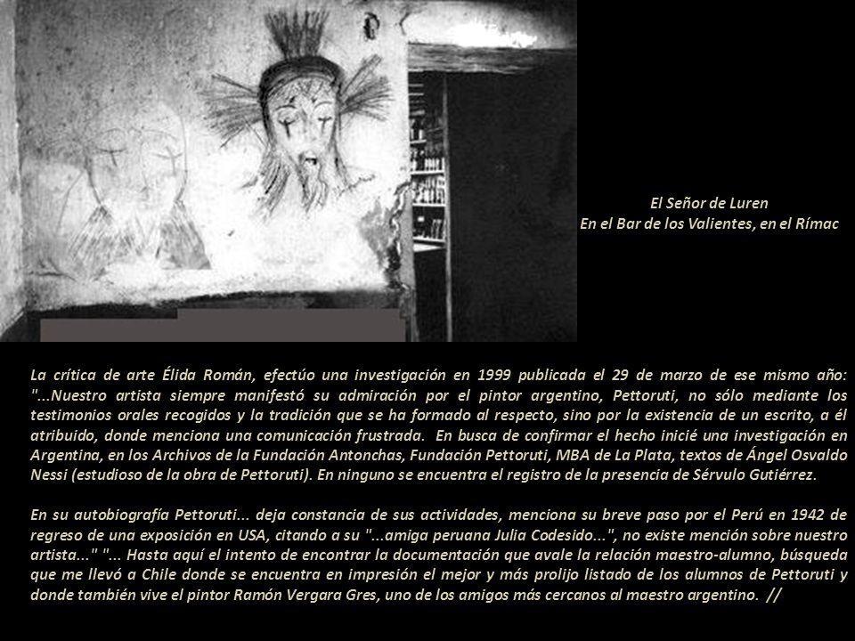 Santa Rosa, 1961 La Telefónica del Perú exhibió una retrospectiva de Sérvulo en 1998 y en la ciudad de Ica fueron exhibidas algunas pinturas, siempre