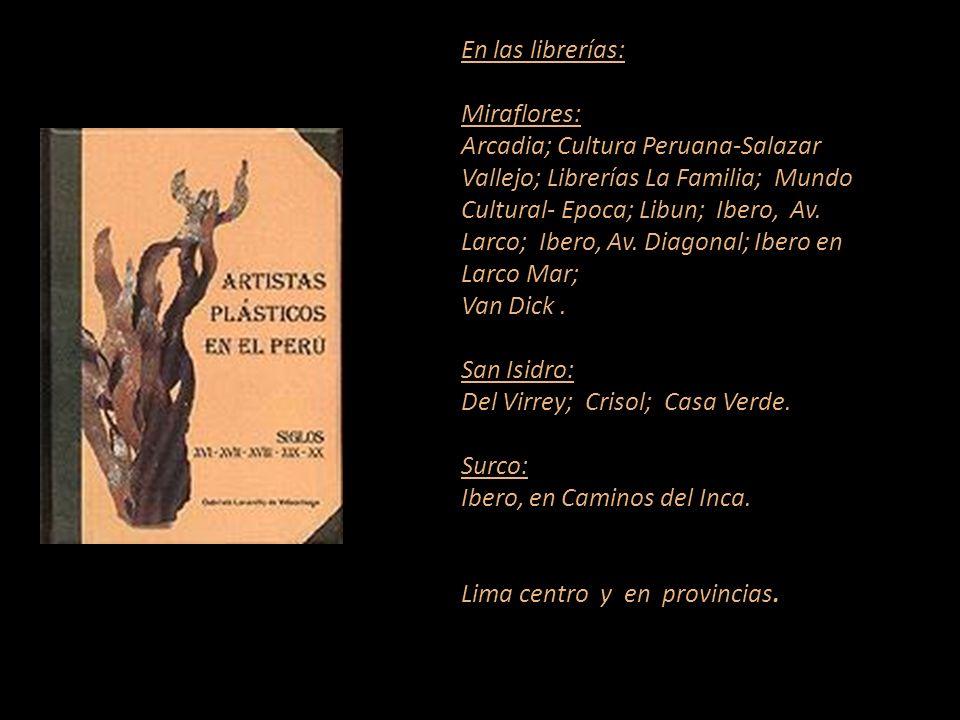 Artista que figura en el diccionario. Carátula, escultura de Armando Varela Neyra. Lima - Perú. Representante de Ventas MARTA COUTO REVOLLEDO 441-3238
