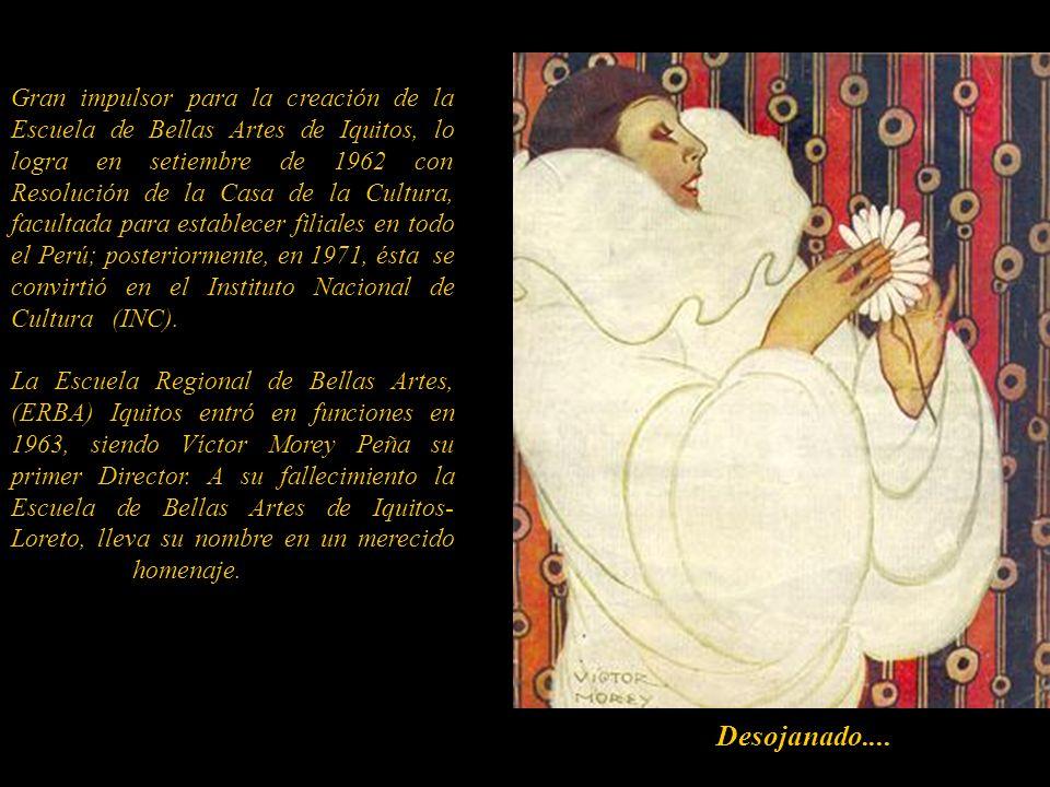En 1926, organizó la Feria de Dibujantes Nacionales, la primera en su género que se hacía en el Perú, con el objetivo de crear un mercado para todos a