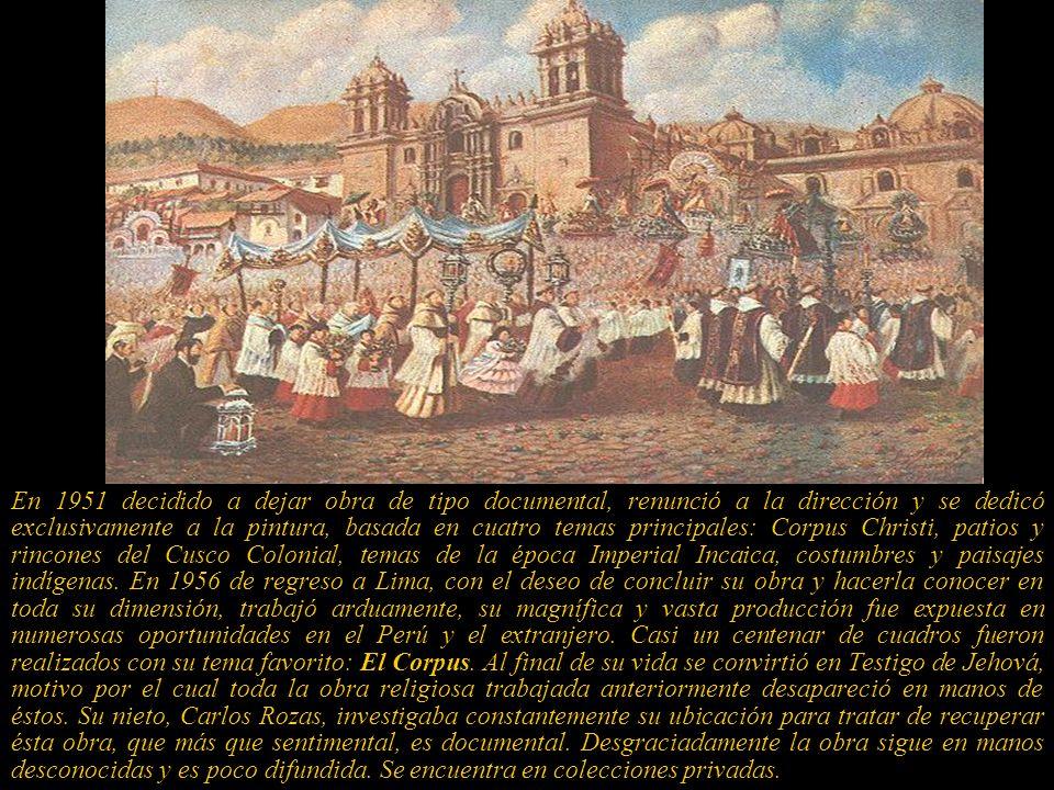 De regreso a su tierra natal, Cusco, y tras muchos años de esfuerzos de trámites y gestiones con los gobiernos de los Presidentes: Leguía, Sánchez Cer