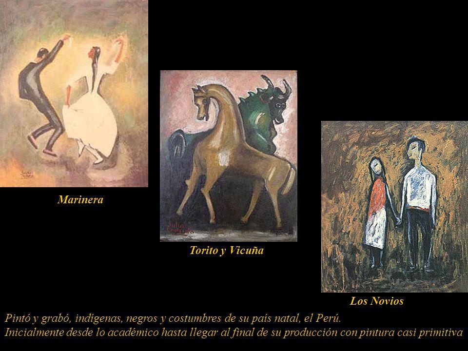 En su pintura podrían señalarse tres períodos de evolución: el primero, entre 1920 y 1935, inicialmente con la pintura clásica europea y posteriorment