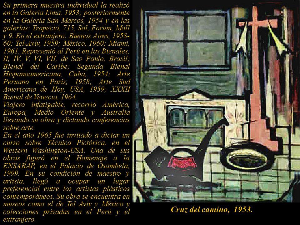 Su primera muestra individual la realizó en la Galería Lima, 1953; posteriormente en la Galería San Marcos, 1954 y en las galerías: Trapecio, 715, Sol, Forum, Moll y 9.