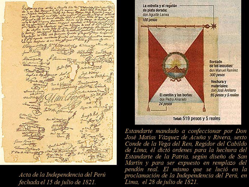 En diciembre de 1820, desde el balcón de la casa paterna de Ignacio Merino, en Trujillo, se proclamó ante el pueblo la Independencia de esa ciudad, el