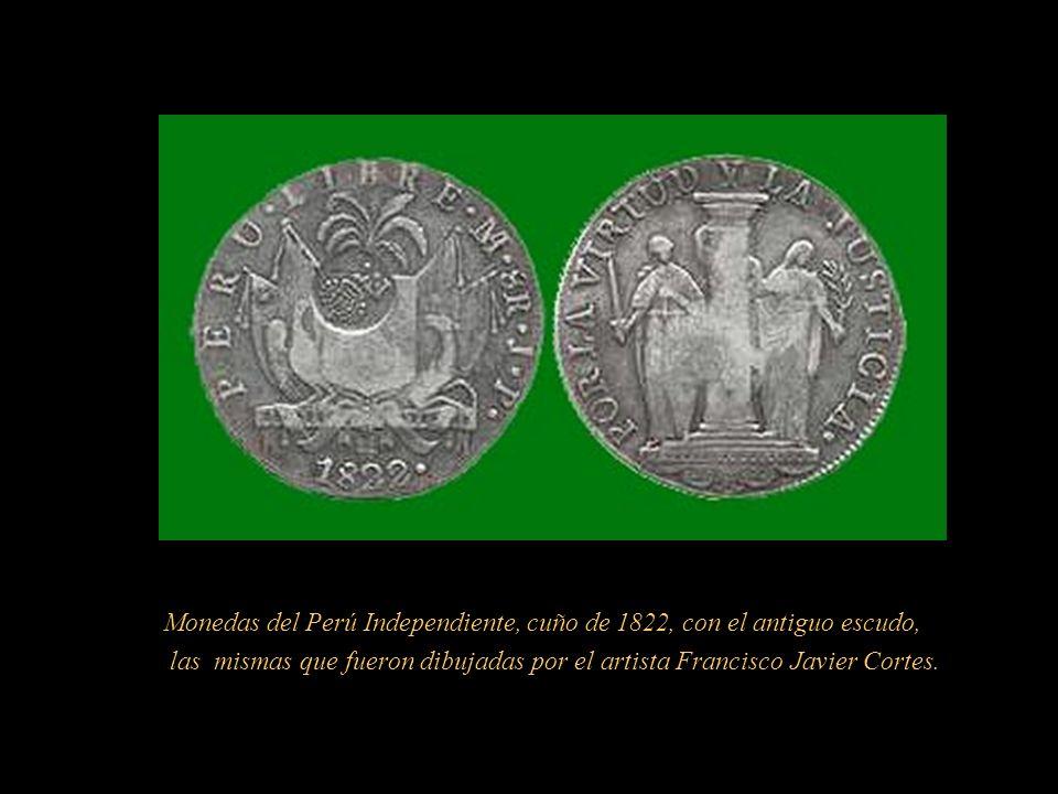 Estandarte mandado a confeccionar por Don José Matías Vázquez de Acuña y Rivera, sexto Conde de la Vega del Ren, Regidor del Cabildo de Lima, él dictó