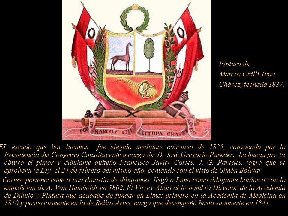 Monedas del Perú Independiente, cuño de 1822, con el antiguo escudo, las mismas que fueron dibujadas por el artista Francisco Javier Cortes.
