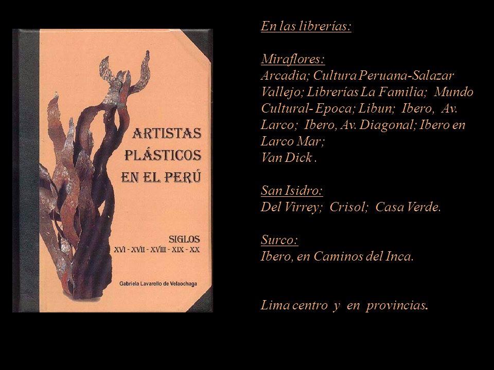 Artista que figura en el diccionario. Carátula, escultura de Armando Varela Neyra. Lima - Perú. Representante de Ventas MARTA COUTO REVOLLEDO 422-6090