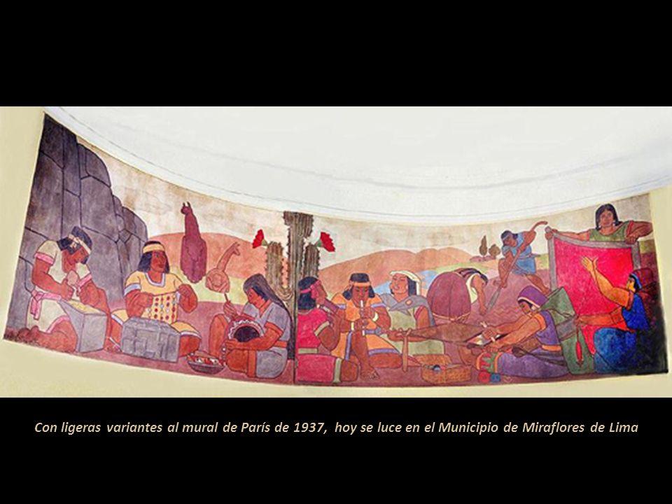Vista de Puno, 1934 Viajó por Bolivia y Argentina, allí recibió la noticia del encargo para pintar el Pabellón Peruano. En 1936 se embarcó a Europa; p