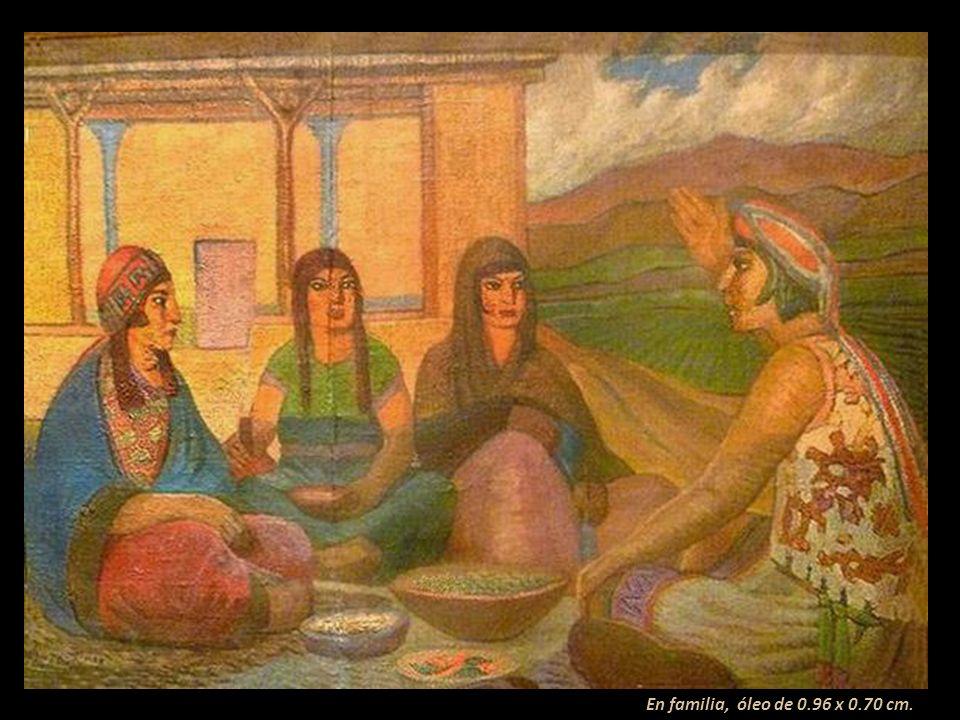 Hombre de suma sencillez, desplegó su maestría en cuadros de gran formato, como: Raza Andina, en el que puede observarse la majestad del indígena peru