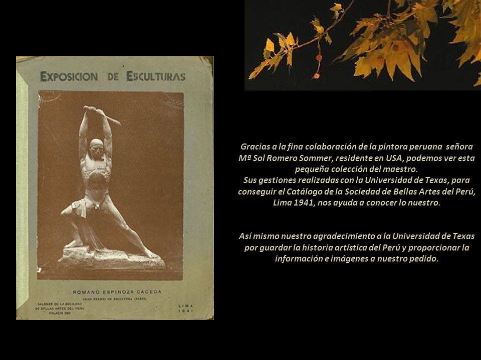 Romano Espinoza Cáceda escultor peruano Presentación Nº 77 Gabriela Lavarello Vargas de Velaochaga - Perú - setiembre 2013