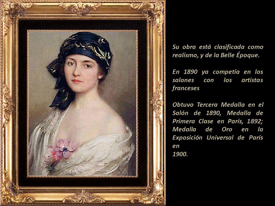 Poco se sabe de su vida como persona. A corta edad viajó a París donde estudió con William Bougereau, (1825-1905) y en la Académie des Beaux Arts de P