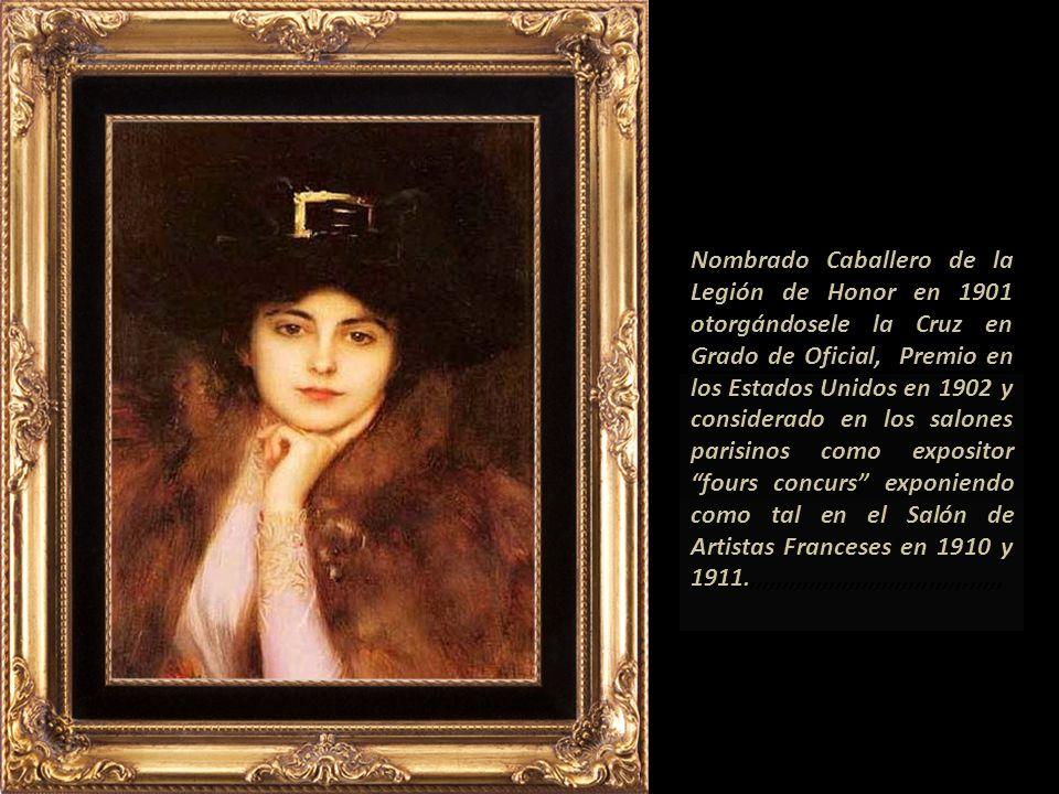 Su obra está clasificada como realismo, y de la Belle Époque. En 1890 ya competía en los salones con los artistas franceses.,,,,,,,,,,,,,,,,,,,,,,,,,,