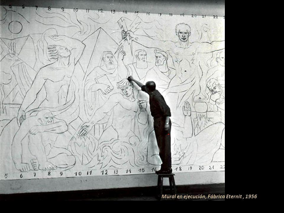 Sus murales hablan por si solos, ejecutó desde 1935 obras de gran dimensión y excelente factura. Destacan: Diana la cazadora en la casa-taller Galería