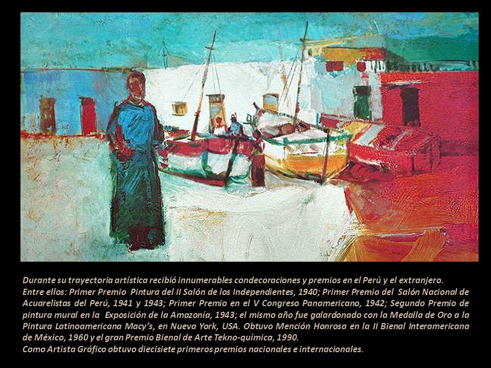 Su primera muestra individual la realizó en la Galería San Marcos, 1953. Desde esa fecha expuso en la mayoría de países de América y Europa. Marina, t