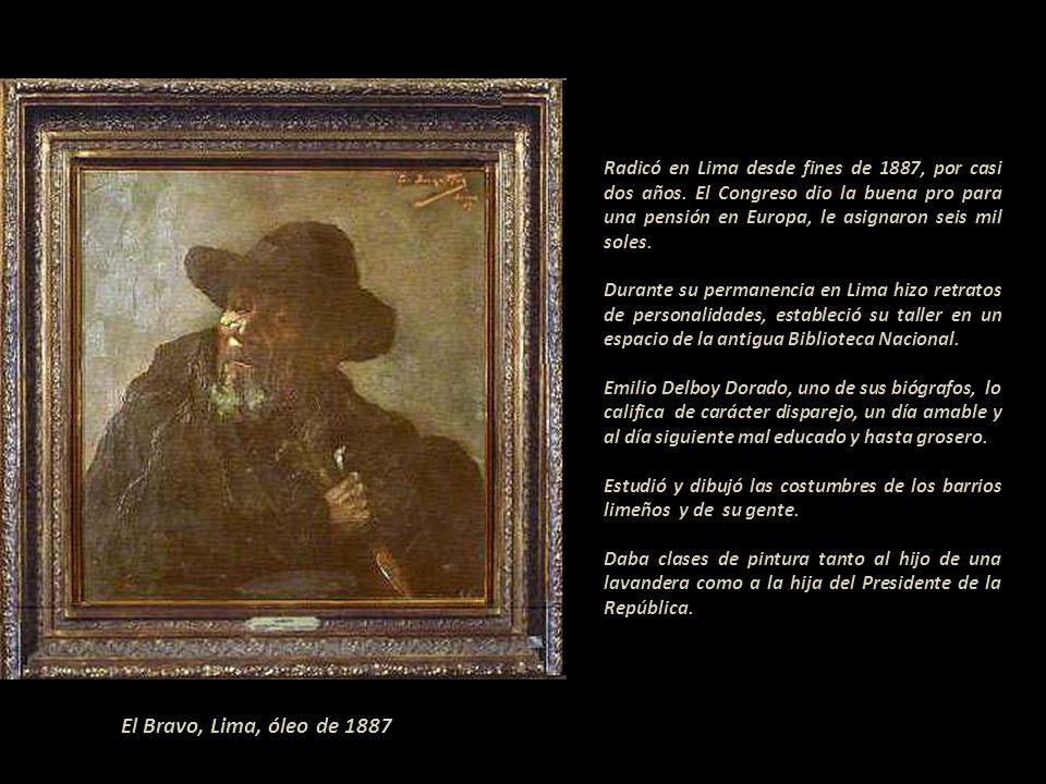 Óleo, Chile 1886 Nacido en 1869, al realizar esta pintura el artista tenía entre 16 y 17 años de edad