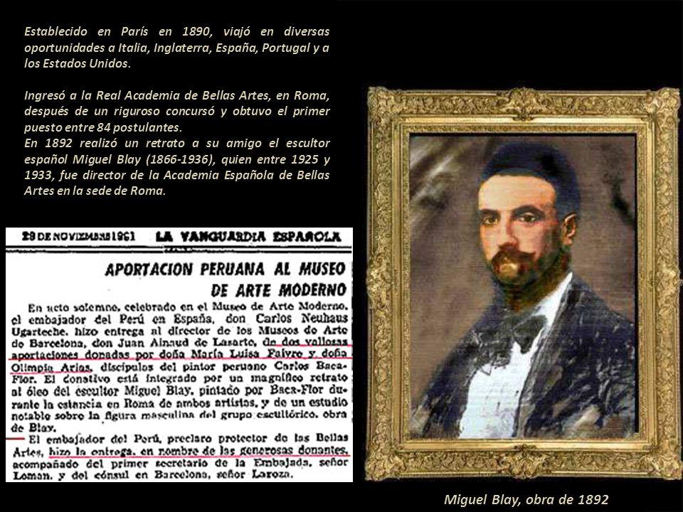 Alfredo Valenzuela Puelma (1856-1909) pintor chileno, condiscípulo de Baca Flor. Obra de 1890 en Chile, antes de salir a Francia.